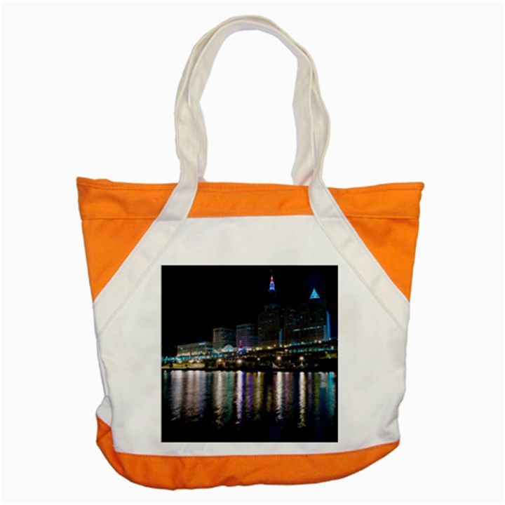 Cleveland Building City By Night Accent Tote Bag