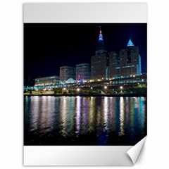 Cleveland Building City By Night Canvas 36  X 48