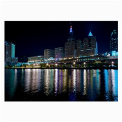 Cleveland Building City By Night Large Glasses Cloth (2-Side)