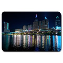 Cleveland Building City By Night Large Doormat