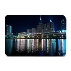 Cleveland Building City By Night Plate Mats