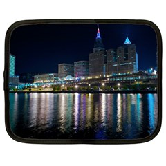 Cleveland Building City By Night Netbook Case (large)
