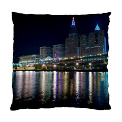 Cleveland Building City By Night Standard Cushion Case (two Sides)