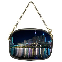 Cleveland Building City By Night Chain Purses (two Sides)