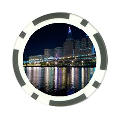 Cleveland Building City By Night Poker Chip Card Guard (10 Pack)