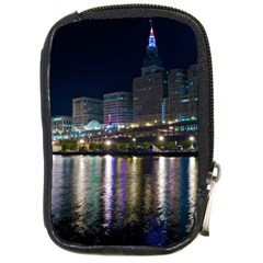 Cleveland Building City By Night Compact Camera Cases