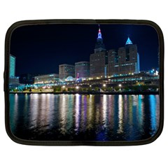 Cleveland Building City By Night Netbook Case (xl)