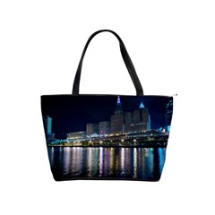Cleveland Building City By Night Shoulder Handbags