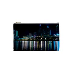 Cleveland Building City By Night Cosmetic Bag (small)