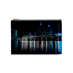 Cleveland Building City By Night Cosmetic Bag (medium)