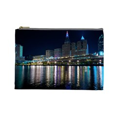 Cleveland Building City By Night Cosmetic Bag (large)