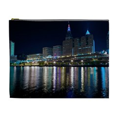 Cleveland Building City By Night Cosmetic Bag (xl)