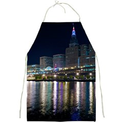Cleveland Building City By Night Full Print Aprons