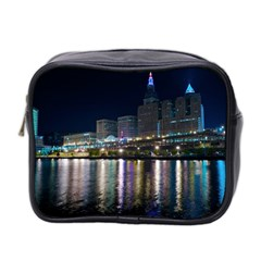 Cleveland Building City By Night Mini Toiletries Bag 2-Side