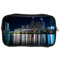 Cleveland Building City By Night Toiletries Bags 2 Side