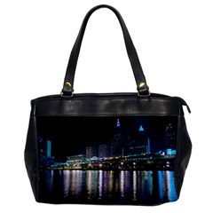 Cleveland Building City By Night Office Handbags