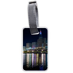 Cleveland Building City By Night Luggage Tags (one Side)