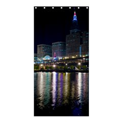 Cleveland Building City By Night Shower Curtain 36  X 72  (stall)