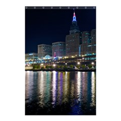 Cleveland Building City By Night Shower Curtain 48  X 72  (small)