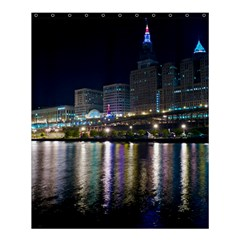 Cleveland Building City By Night Shower Curtain 60  X 72  (medium)