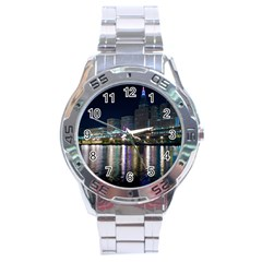 Cleveland Building City By Night Stainless Steel Analogue Watch