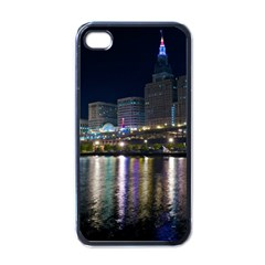 Cleveland Building City By Night Apple Iphone 4 Case (black)