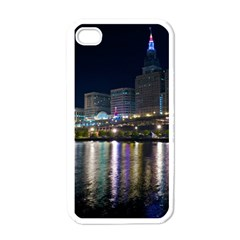 Cleveland Building City By Night Apple Iphone 4 Case (white)