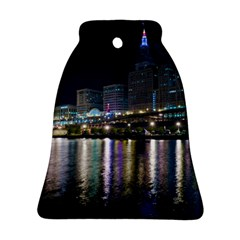 Cleveland Building City By Night Bell Ornament (two Sides)