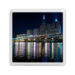 Cleveland Building City By Night Memory Card Reader (square)