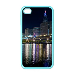 Cleveland Building City By Night Apple Iphone 4 Case (color)