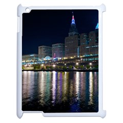 Cleveland Building City By Night Apple Ipad 2 Case (white)