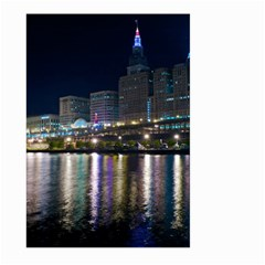 Cleveland Building City By Night Large Garden Flag (two Sides)