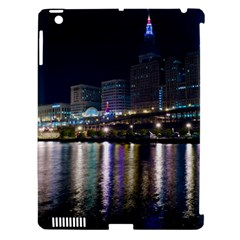 Cleveland Building City By Night Apple Ipad 3/4 Hardshell Case (compatible With Smart Cover)