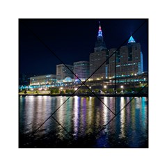 Cleveland Building City By Night Acrylic Tangram Puzzle (6  X 6 )