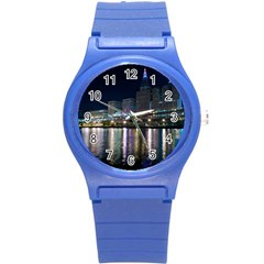 Cleveland Building City By Night Round Plastic Sport Watch (s)