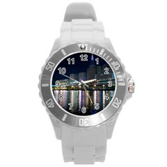 Cleveland Building City By Night Round Plastic Sport Watch (l)
