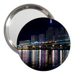 Cleveland Building City By Night 3  Handbag Mirrors