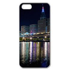 Cleveland Building City By Night Apple Seamless Iphone 5 Case (clear)