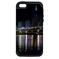 Cleveland Building City By Night Apple Iphone 5 Hardshell Case (pc+silicone)