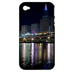 Cleveland Building City By Night Apple Iphone 4/4s Hardshell Case (pc+silicone)