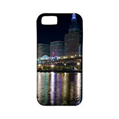 Cleveland Building City By Night Apple Iphone 5 Classic Hardshell Case (pc+silicone)