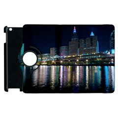 Cleveland Building City By Night Apple Ipad 2 Flip 360 Case