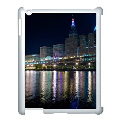 Cleveland Building City By Night Apple iPad 3/4 Case (White)