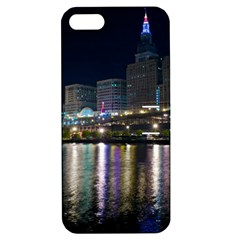 Cleveland Building City By Night Apple Iphone 5 Hardshell Case With Stand