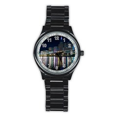 Cleveland Building City By Night Stainless Steel Round Watch