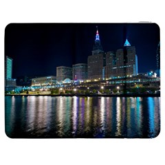 Cleveland Building City By Night Samsung Galaxy Tab 7  P1000 Flip Case