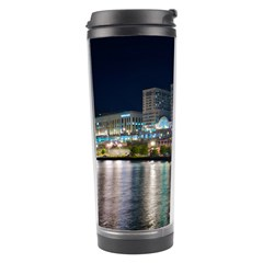 Cleveland Building City By Night Travel Tumbler