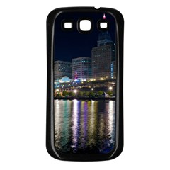 Cleveland Building City By Night Samsung Galaxy S3 Back Case (black)