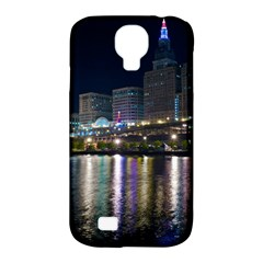 Cleveland Building City By Night Samsung Galaxy S4 Classic Hardshell Case (pc+silicone)