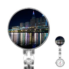 Cleveland Building City By Night Stainless Steel Nurses Watch
